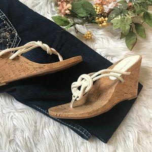 Gianni Bini cork Wedge sandals